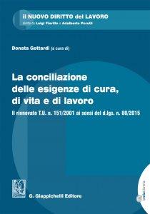 Copertina di 'La conciliazione delle esigenze di cura, di vita e di lavoro'