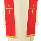 Immagine di 'Stola rossa con croce stilizzata'