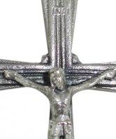 Immagine di 'Croce con Cristo riportato in metallo argentato - 4,5 cm'