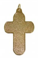Immagine di 'Croce in metallo dorato con decori - 3,3 cm'