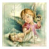 """Mini puzzle """"Angelo con lanterna"""" per bambini - 12 pezzi"""