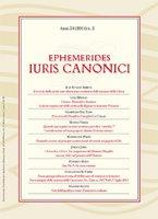 Ephemerides Iuris Canonici. Anno 54 (2014) n.2