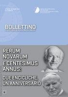 Bollettino di Dottrina Sociale della Chiesa 4/XII/ottobre-dicembre 2016. Rerum Novarum e Centesimus Annus: due encicliche, un anniversario.