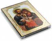Immagine di 'Icona Sacra Famiglia stampa su legno - 10 x 14 cm'