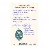 """Immagine di 'Card """"Madonna di Fatima"""" con preghiera e medaglia - (10 pezzi)'"""
