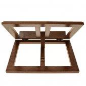 Immagine di 'Leggio in legno scuro stile moderno - dimensioni 21x31 cm'