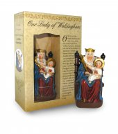 Statua di Madonna di Walsingham (protestante) da 12 cm in confezione regalo con segnalibro in versione INGLESE