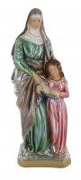 Statua Sant'Anna in gesso madreperlato dipinta a mano - 30 cm
