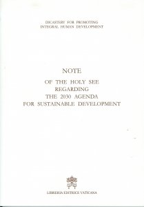 Copertina di 'Note of the Holy See regarding the 2030 agenda for sustainable development'