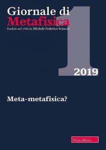 Copertina di 'Giornale di metafisica (2019)'