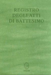 Copertina di 'Registro degli atti di Battesimo'
