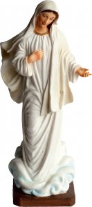 """Copertina di 'Statua in resina colorata """"Madonna di Medjugorie"""" - altezza 20 cm'"""