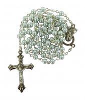 Rosario imitazione perla vetro Ø 4 mm azzurro