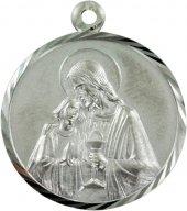 """Medaglia tonda in argento """"Comunione"""" - cm 2"""