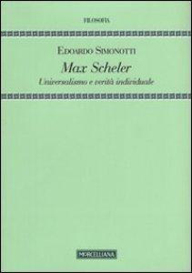 Copertina di 'Max Scheler'