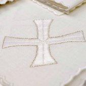 Servizio da messa 4 pezzi con ricamo a croce greca