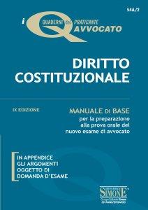 Copertina di 'I Quaderni del praticante Avvocato - Diritto Costituzionale'
