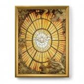 """Quadro """"Colomba dello Spirito Santo"""" con lamina oro e cornice dorata - dimensioni 44x34 cm"""