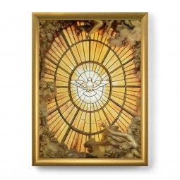 Quadro \'Colomba dello Spirito Santo\' con lamina oro e cornice dorata ...