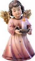 Statuina dell'angioletto con candela, linea da 10 cm, in legno dipinto a mano, collezione Angeli Sissi - Demetz Deur