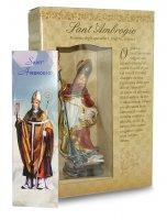 Immagine di 'Statua di Sant'Ambrogio da 12 cm in confezione regalo con segnalibro'