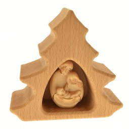 Copertina di 'Alberello in legno con Natività lavorato a mano - altezza 10 cm'