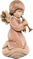 Angelo Pitti con trombone - Demetz - Deur - Statua in legno dipinta a mano. Altezza pari a 10 cm.