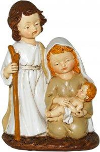 Copertina di 'Natività in resina colorata, decorazione natalizia/soprammobile, piccolo presepe con Sacra Famiglia, 11 x 16 cm'