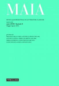 Copertina di 'Maia. 2/2016: Rivista quadrimestrale di letterature classiche.'