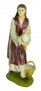 Copertina di 'Pastorella con gallina Linea Martino Landi - presepe da 12 cm'