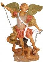 Statua San Michele arcangelo dipinta a mano cm 8