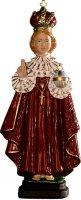 Statua Gesù Bambino di Praga in materiale infrangibile dipinta a mano - cm 16 di  su LibreriadelSanto.it