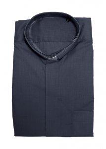 Copertina di 'Camicia clergyman grigio scuro manica lunga 100% cotone - collo 42'