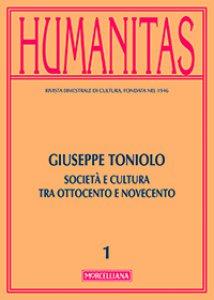 Copertina di 'Humanitas. 1/2014: Giuseppe Toniolo'