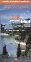 Lago di Garda 1:75 000. Con guida turistica. Ediz. italiana e tedesca