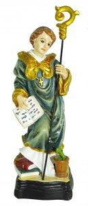 Copertina di 'Statua di San Benedetto da 12 cm in confezione regalo con segnalibro'