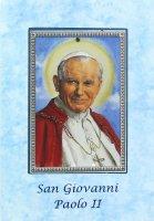 Biglietto fustellato con tavoletta San Giovanni Paolo II