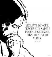 """Immagine di 'Zaino con coulisse - """"Vegliate dunque, perché non sapete..."""" (Mt 24,42)'"""