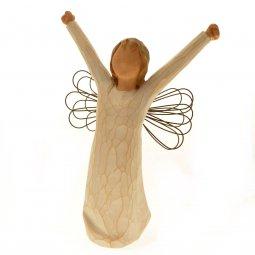 """Copertina di 'Statuetta in resina """"Angelo a braccia aperte"""" - altezza 15 cm'"""