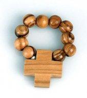 Rosario decina in legno con filo elastico