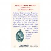 """Immagine di 'Card """"Maria Ausiliatrice"""" con preghiera e medaglia - (10 pezzi)'"""