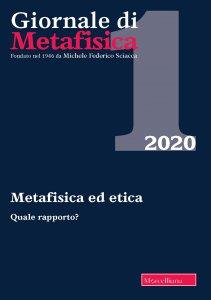 Copertina di 'Giornale di Metafisica. 1/2020 (vol. 42): Metafisica ed etica. Quale rapporto?'