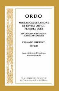 Copertina di 'Ordo missae celebrandae et divini officii persolvendi secundum calendarium romanum generale'