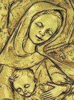 Immagine di 'Quadro Madonna con Bambino in resina - Bassorilievo - 8 x 10,5 cm'
