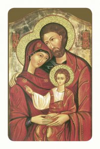 """Copertina di 'Card pvc con preghiera """"Sacra Famiglia""""'"""