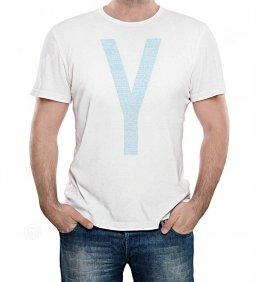 Copertina di 'T-shirt Yeshua azzurra con scritte - taglia XL - uomo'