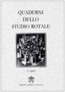 Copertina di 'Quaderni dello Studio Rotale - 17 (2007)'
