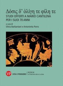 Copertina di 'Studi offerti a Mario Cantilena per i suoi 70 anni'