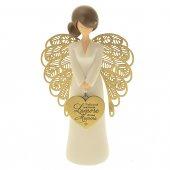 """Statua in resina angelo ''Amore di mamma"""" - altezza 15 cm"""