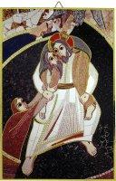 Quadro Buon Pastore di Padre Rupnik cm 20x27 con bolla Giubileo Misericordia